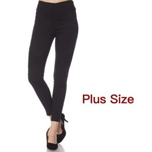 🆕🌟Plus Size Moto Leggings With Gold Ankle Zipper